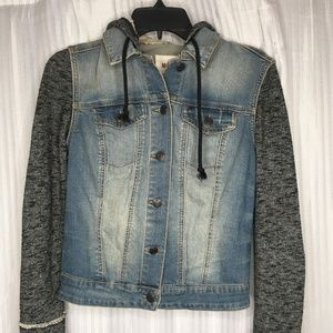 Women's Denim Hoodie Jacket
